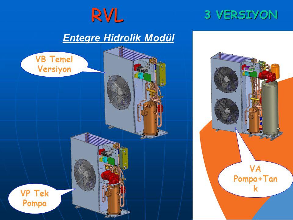 RVLOTOMASYONLU Yeni RXA serisi cihazla yerden-duvardan ısıtma-soğutma ve Fan-coil sistemlerinile uyumlu çalışmaktadır.