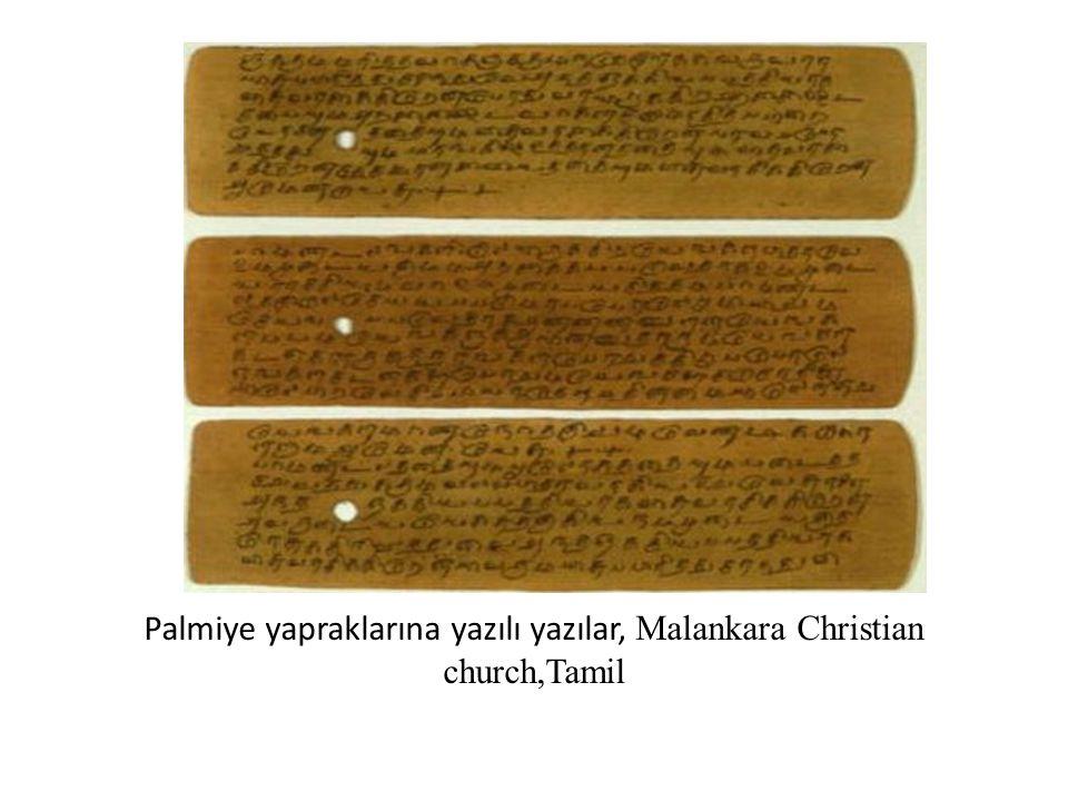 Palmiye yapraklarına yazılı yazılar, Malankara Christian church,Tamil