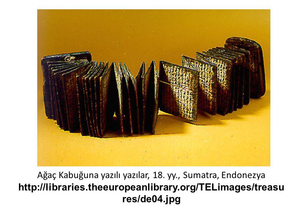 Ağaç Kabuğuna yazılı yazılar, 18.