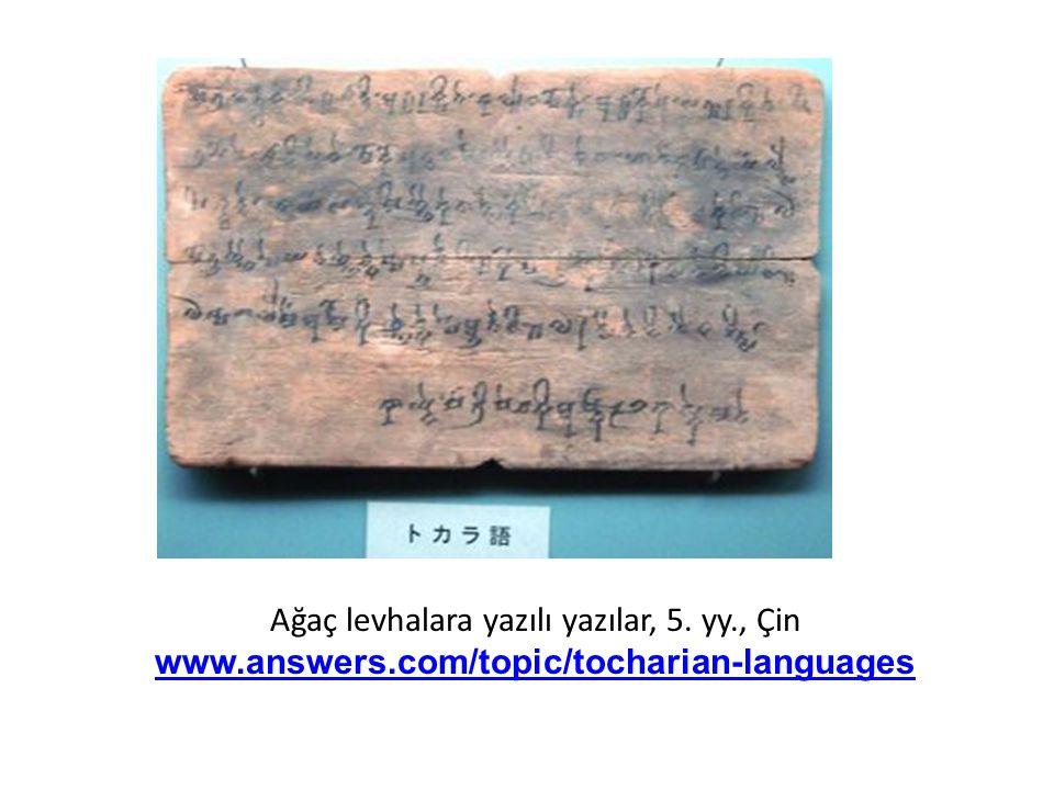 Ağaç levhalara yazılı yazılar, 5.