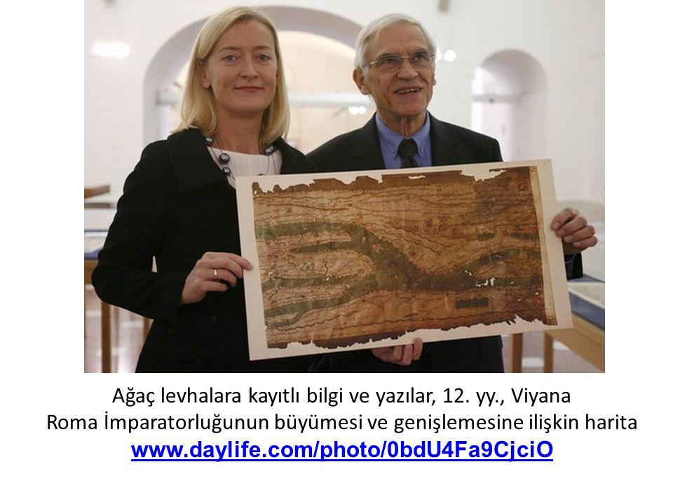 Ağaç levhalara kayıtlı bilgi ve yazılar, 12.