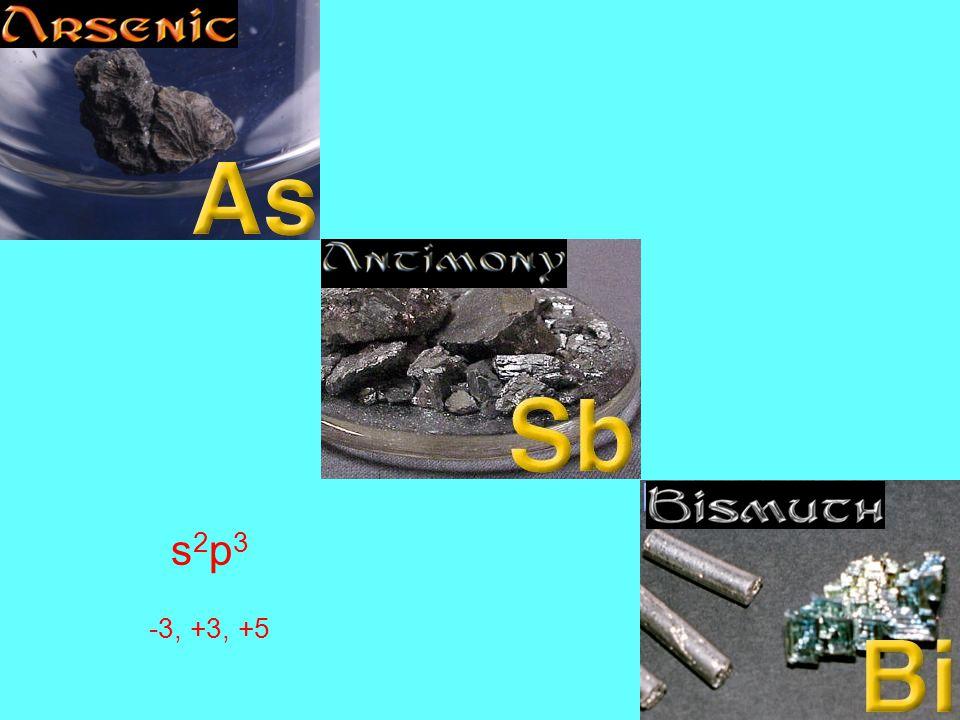 s 2 p 3 -3, +3, +5