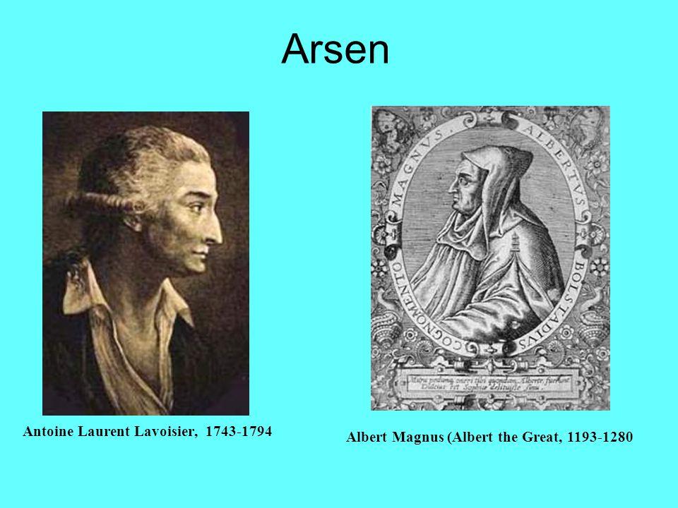 Arsen Antoine Laurent Lavoisier, 1743-1794 Albert Magnus (Albert the Great, 1193-1280
