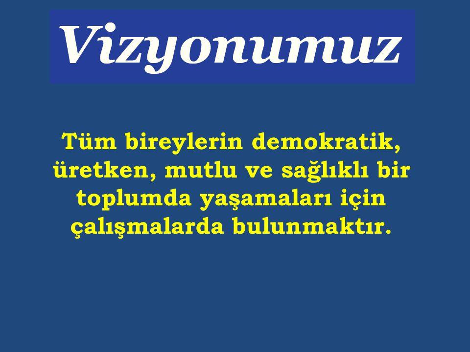 Tüm bireylerin demokratik, üretken, mutlu ve sağlıklı bir toplumda yaşamaları için çalışmalarda bulunmaktır.