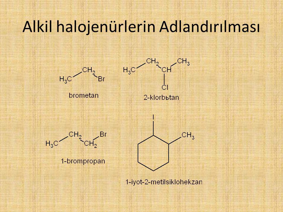 Alkil halojenürlerin Adlandırılması