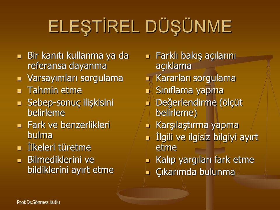 Prof.Dr.Sönmez Kutlu HADİSLERİN TAHLİL VE TENKİDİ HADİS (V.