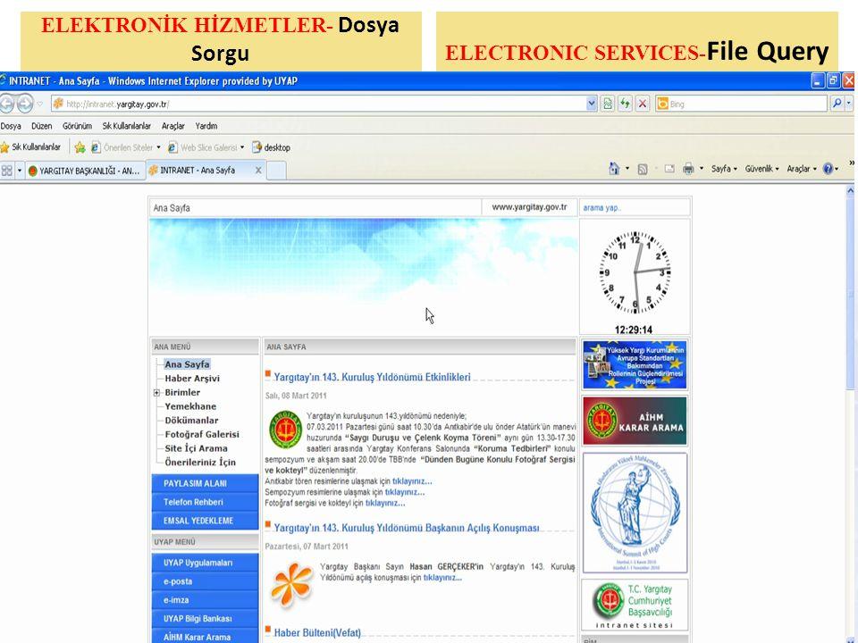 ELEKTRONİK HİZMETLER- Dosya Sorgu 1., ELECTRONIC SERVICES- File Query