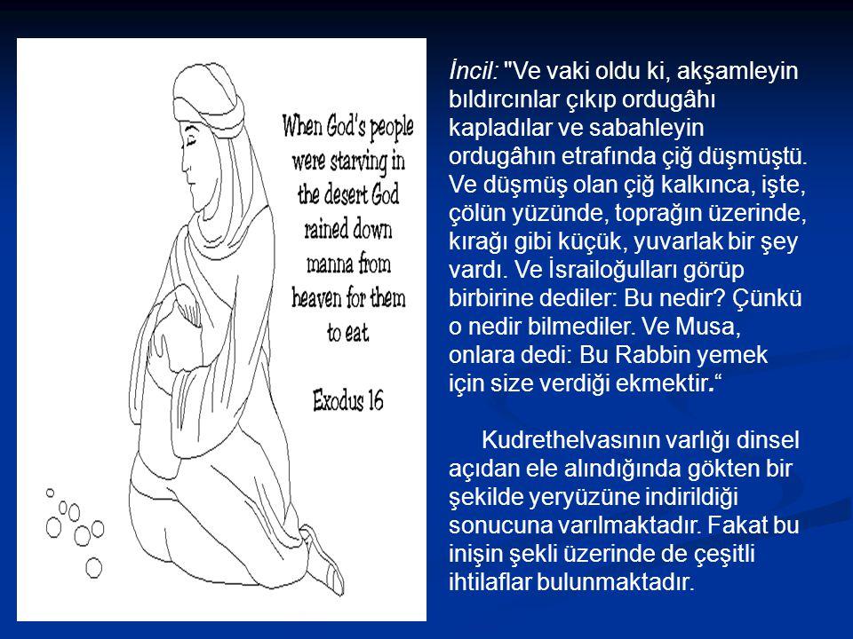 Ayrıca Evliya Çelebi kendi izlemleriyle Malatya'yı anlatırken kud- rethelvasına da şu şekilde değinmiştir: Dağlarında keremgüv adında kudrethelvası olur.