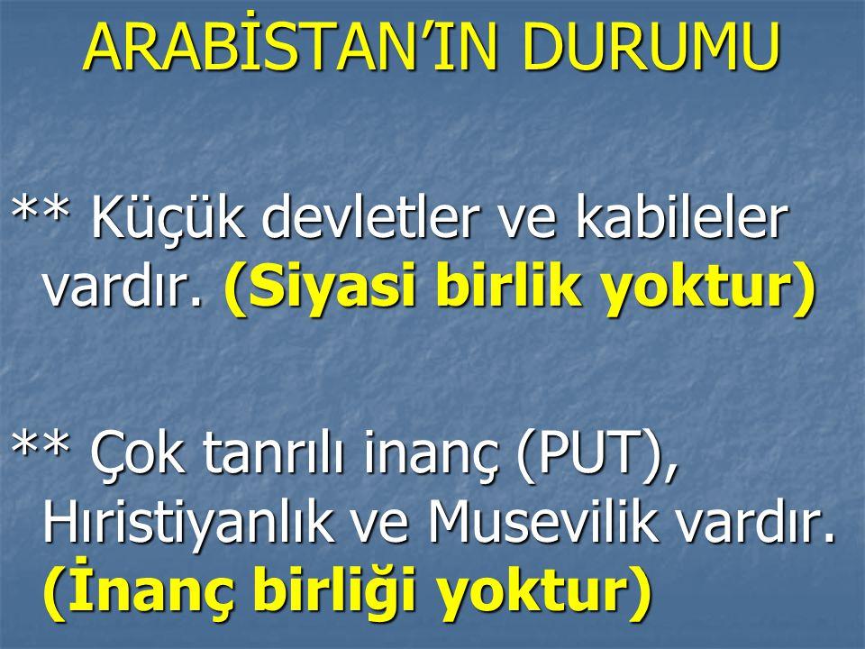 Hz.Osman Dönemi: * İlk İslam Donanması oluşturuldu (Denizlerde etkinlik ve güç arttı) * Kur'an çoğaltılarak önemli merkezlere gönderildi (yorum farkını önlemek, dinde birliği sağlamak için) * Hz.Osman devlet kademelerine akrabalarını getirmiştir (Emevi-Ümeyye).