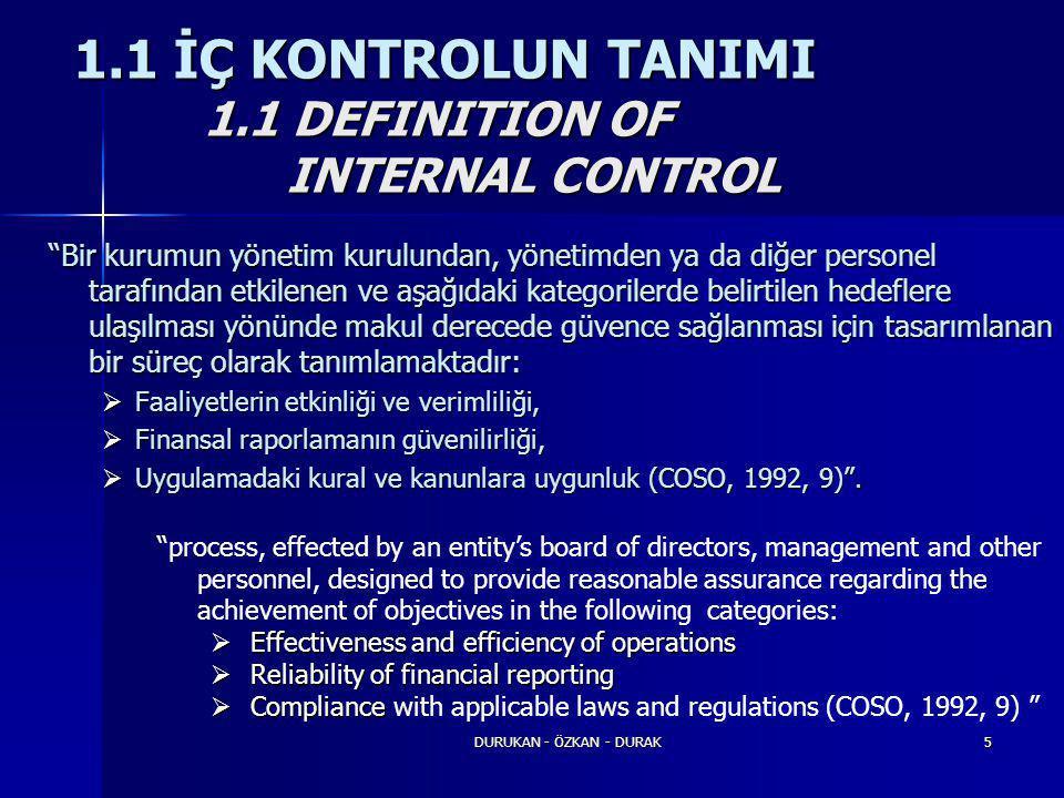 """DURUKAN - ÖZKAN - DURAK5 """"Bir kurumun yönetim kurulundan, yönetimden ya da diğer personel tarafından etkilenen ve aşağıdaki kategorilerde belirtilen h"""