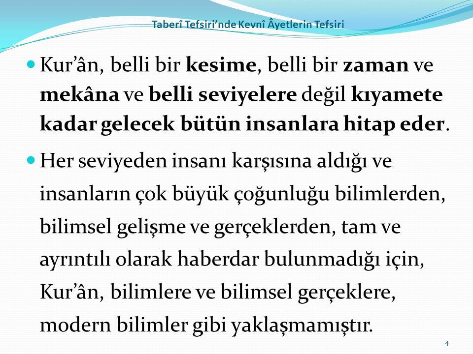 Taberî Tefsiri'nde Kevnî Âyetlerin Tefsiri Yine عن مجاهد في قوله:(بغير عمد ترونها) ، قال: بعمد لا ترونها.