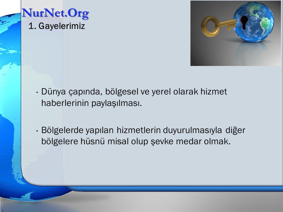 Dünya çapında, bölgesel ve yerel olarak hizmet haberlerinin paylaşılması.