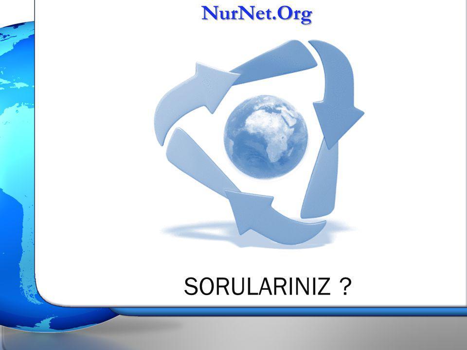 NurNet.Org SORULARINIZ ?