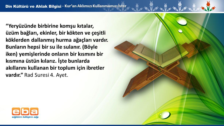 6 - Kur'an Aklımızı Kullanmamızı İster Düşünesiniz diye Allah size ayetlerini böyle açıklamaktadır. Bakara Suresi 242.