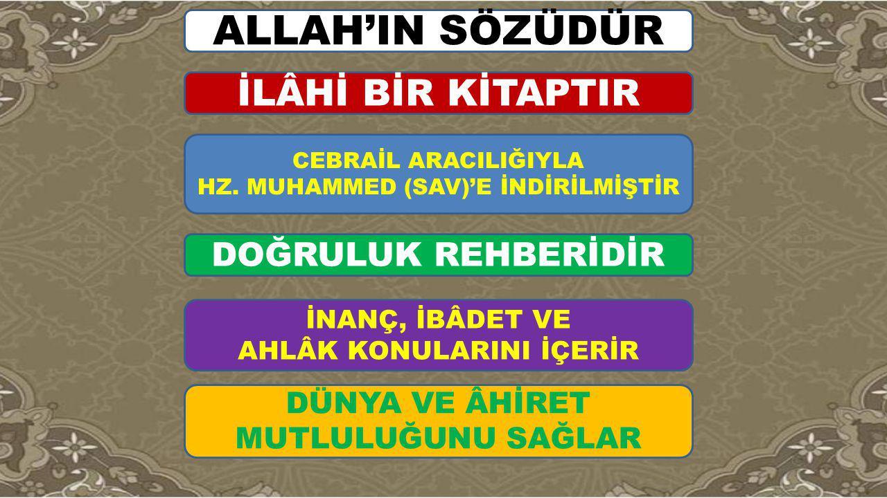 إنَّ الَّذي لَيس في جَوْفِهِ شَيْءٌ مِنَ القُرآنِ كالبيتِ الخَرِبِ Kalbinde Kur'ân-dan bir miktar bulunmayan kimse harap ev gibidi r.