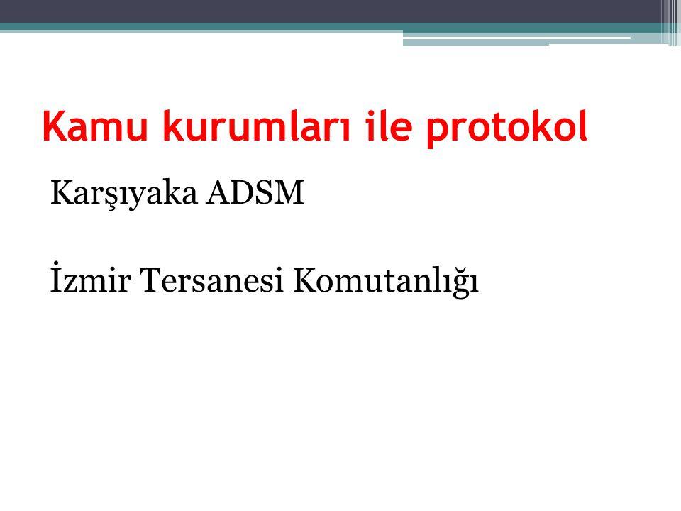 Karşıyaka ADSM İzmir Tersanesi Komutanlığı Kamu kurumları ile protokol