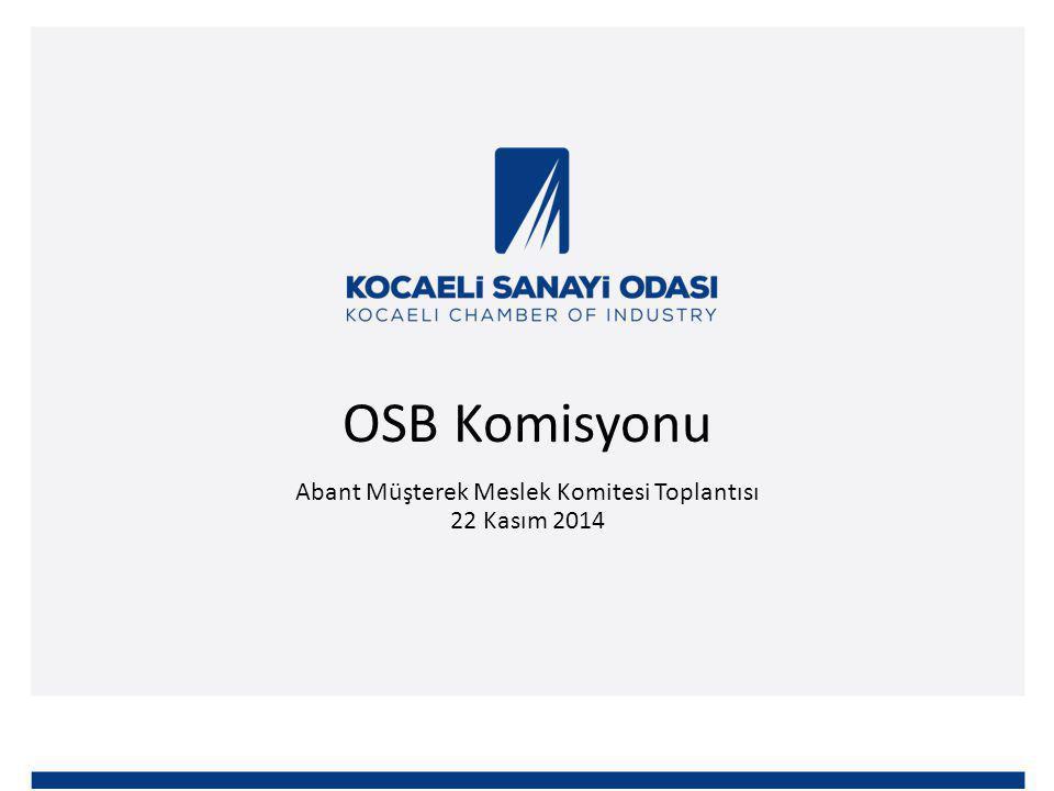 OSB Komisyonu Abant Müşterek Meslek Komitesi Toplantısı 22 Kasım 2014