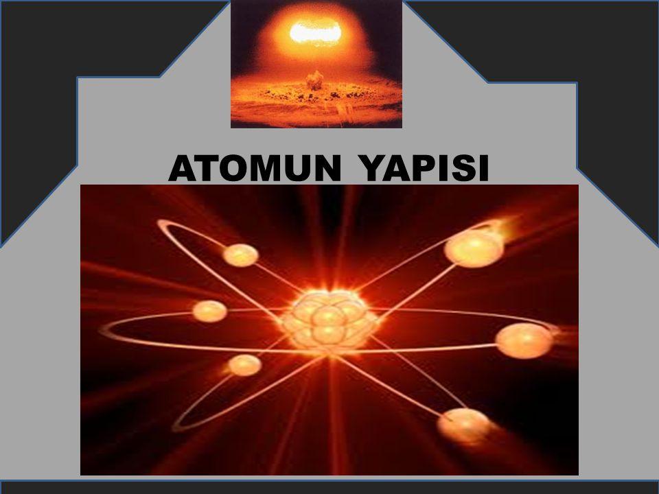 ATOM NEDİR.Elementlerin tüm özelliğini gösteren en küçük parçasına atom denir.