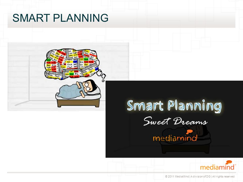 © 2011 MediaMind | A division of DG | All rights reserved SMART PLANNING