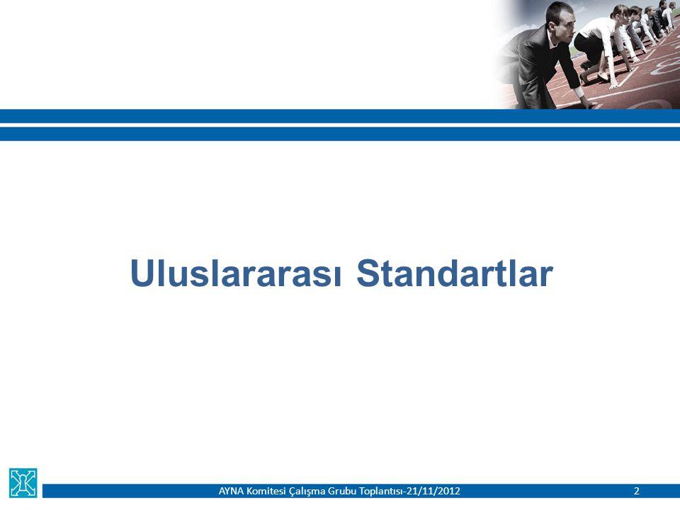 Uluslararası Standartlar AYNA Komitesi Çalışma Grubu Toplantısı-21/11/20122