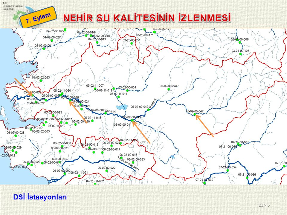 23/45 7. Eylem DSİ İstasyonları