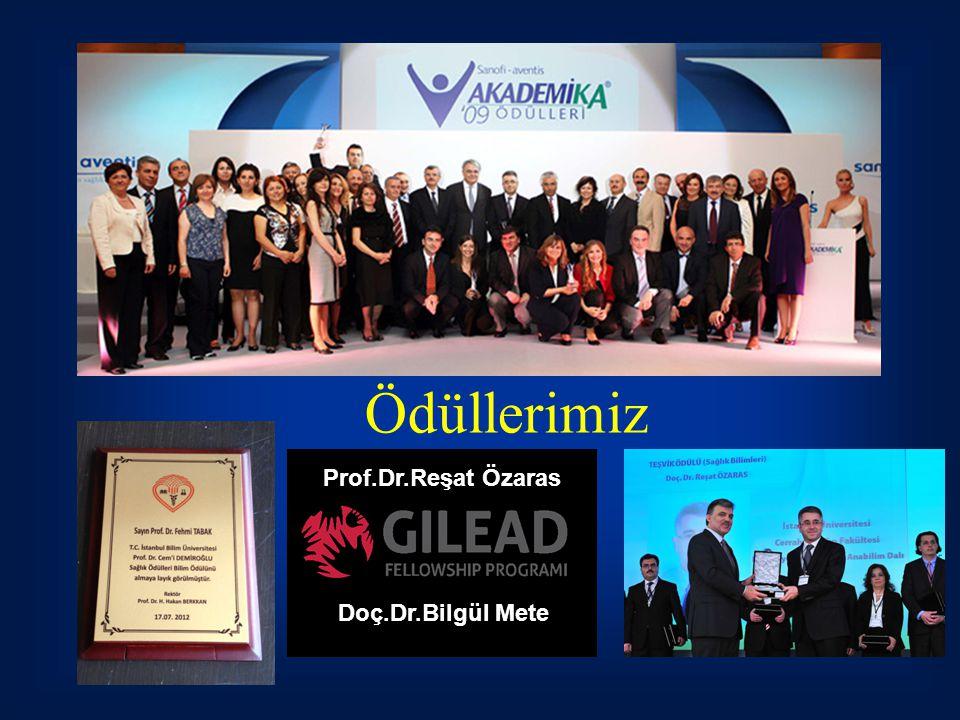Ödüllerimiz Prof.Dr.Reşat Özaras Doç.Dr.Bilgül Mete