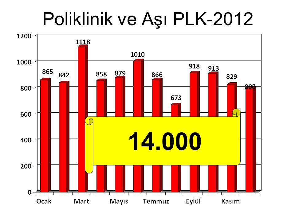 Poliklinik ve Aşı PLK-2012 14.000