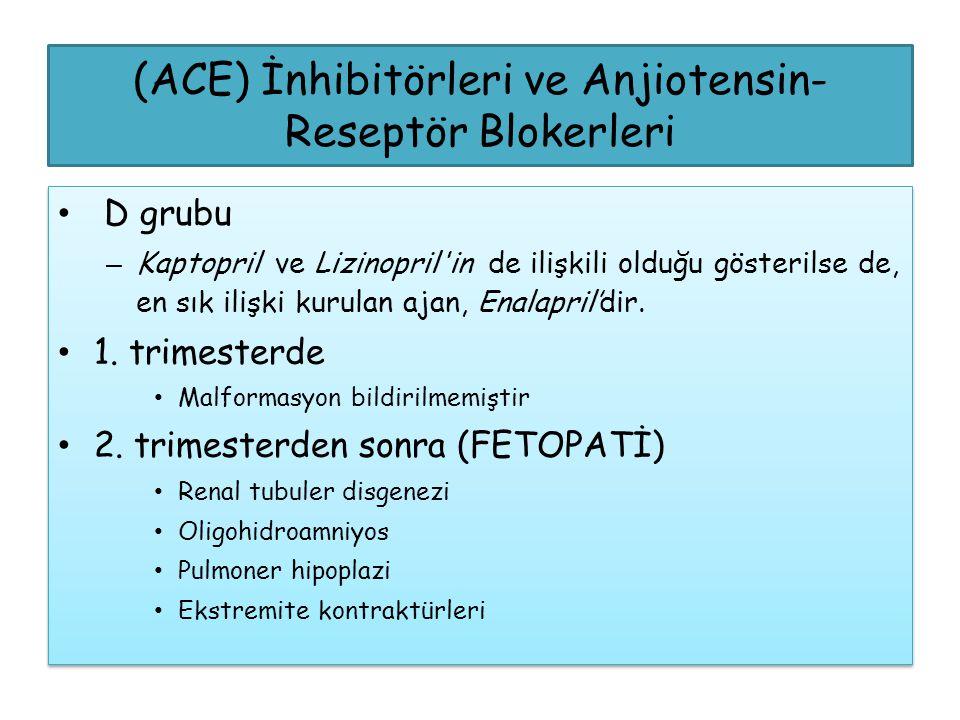 (ACE) İnhibitörleri ve Anjiotensin- Reseptör Blokerleri D grubu – Kaptopril ve Lizinopril'in de ilişkili olduğu gösterilse de, en sık ilişki kurulan a