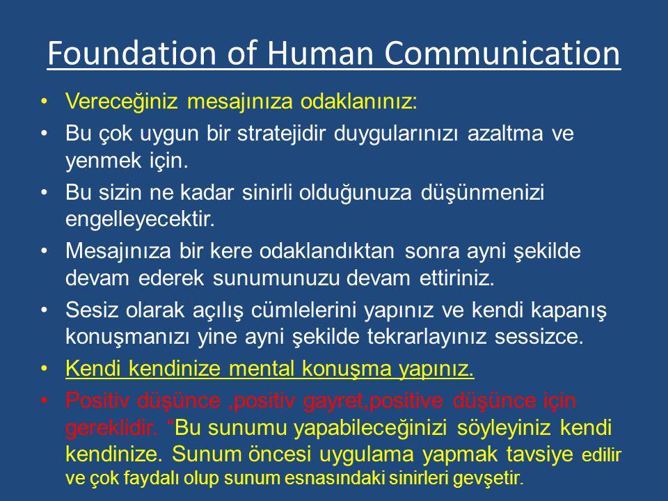 Foundation of Human Communication Vereceğiniz mesajınıza odaklanınız: Bu çok uygun bir stratejidir duygularınızı azaltma ve yenmek için. Bu sizin ne k