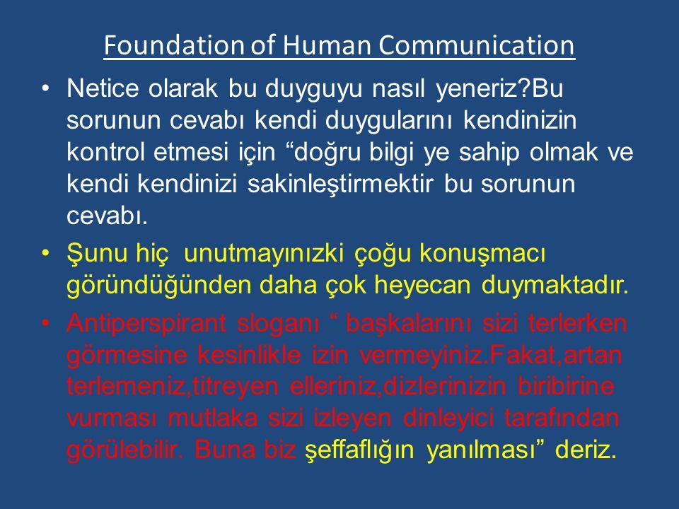 """Foundation of Human Communication Netice olarak bu duyguyu nasıl yeneriz?Bu sorunun cevabı kendi duygularını kendinizin kontrol etmesi için """"doğru bil"""