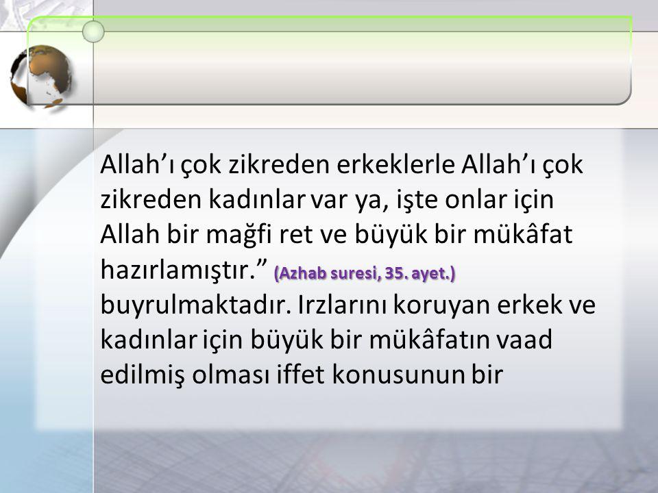 (Azhab suresi, 35.