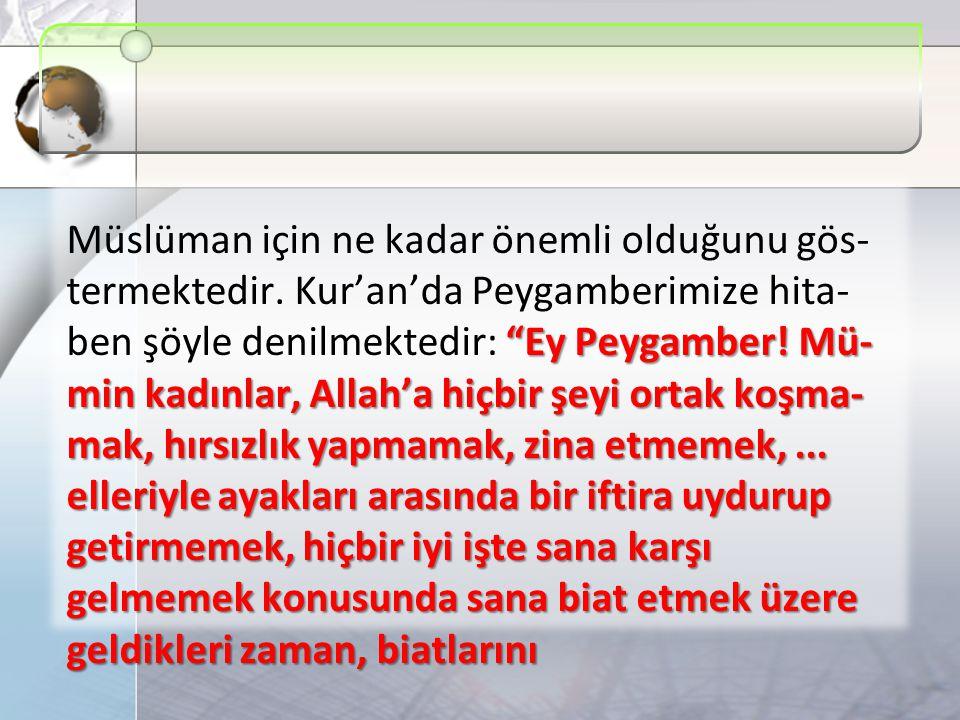 Ey Peygamber.