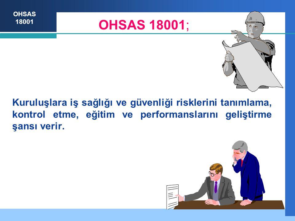 OHSAS 18001 Kuruluşlara iş sağlığı ve güvenliği risklerini tanımlama, kontrol etme, eğitim ve performanslarını geliştirme şansı verir.