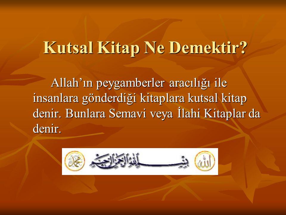 Kur'an-ı Kerim'e Karşı Görevlerimiz Her müslüman, K.