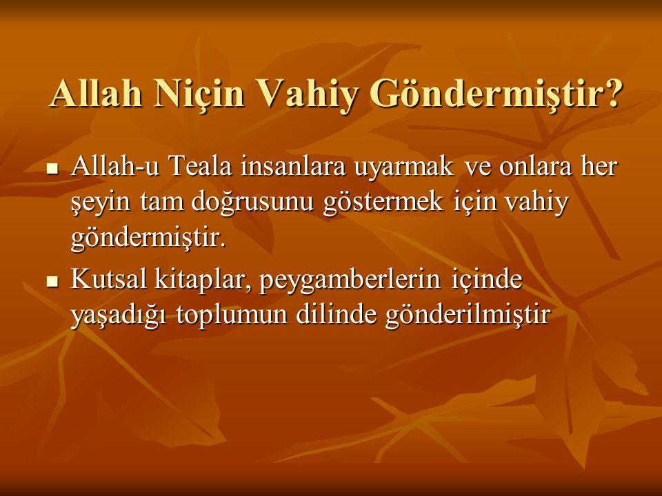 Kur'an-ı Kerim'in Nazil Oluşu K.Kerim, ayet ayet, sure sure ihtiyaçlara cevap olarak gelmiştir.