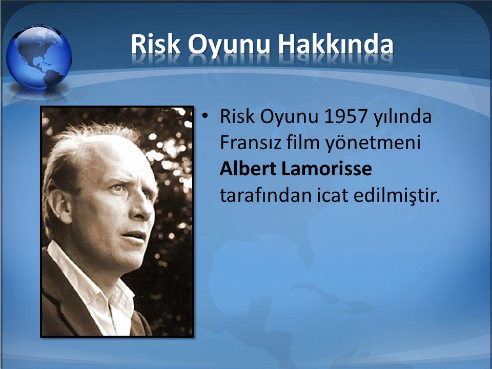 Risk Oyunu 1957 yılında Fransız film yönetmeni Albert Lamorisse tarafından icat edilmiştir.