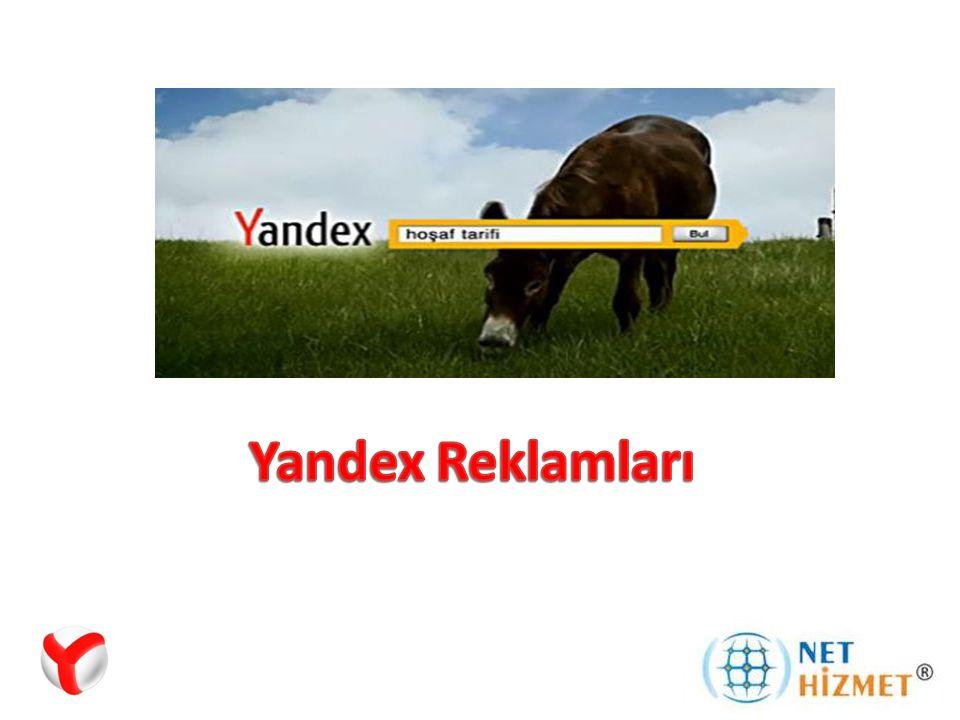Yandex Arama Motoru Rusya'nın en büyük arama motoru ve tüm Dünya'da 5.