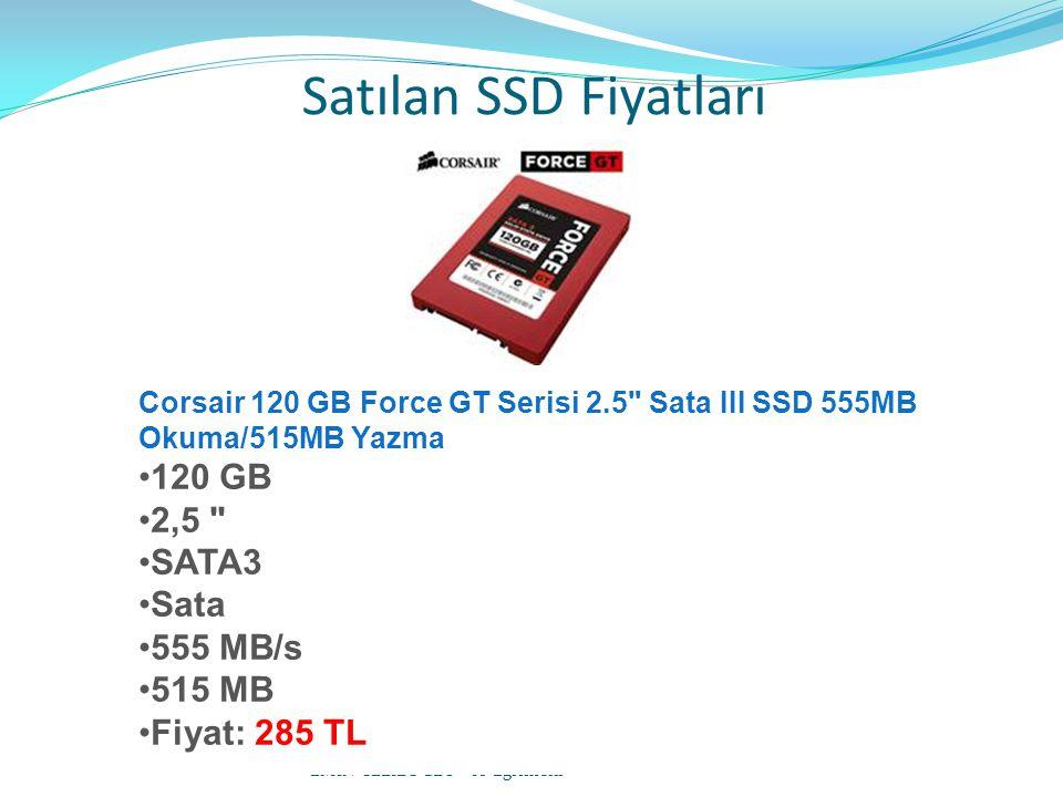Satılan SSD Fiyatları EMİN CELİLOĞLU - IT Eğitmeni Corsair 120 GB Force GT Serisi 2.5 Sata III SSD 555MB Okuma/515MB Yazma 120 GB 2,5 SATA3 Sata 555 MB/s 515 MB Fiyat: 285 TL