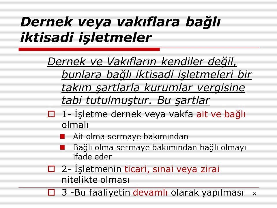 29 5.1.2 YURT DIŞI İŞTİRAK KAZANÇLARI İSTİSNASI  Kanunî ve iş merkezi Türkiye de bulunmayan anonim ve limited şirket niteliğindeki şirketlerin sermayesine iştirak eden kurumların, bu iştiraklerinden elde ettikleri aşağıdaki şartları taşıyan iştirak kazançları;