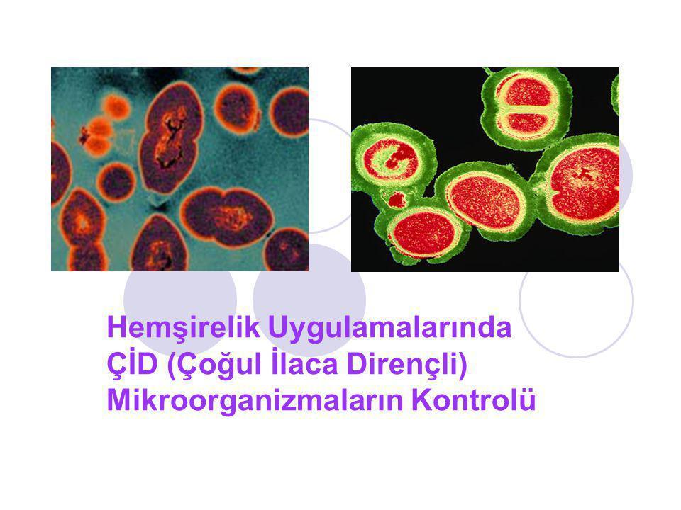 Hemşirelik Uygulamalarında ÇİD (Çoğul İlaca Dirençli) Mikroorganizmaların Kontrolü