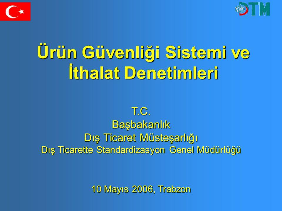 Ürün Güvenliği Sistemi ve İthalat Denetimleri T.C.Başbakanlık Dış Ticaret Müsteşarlığı Dış Ticarette Standardizasyon Genel Müdürlüğü 10 Mayıs 2006, Tr