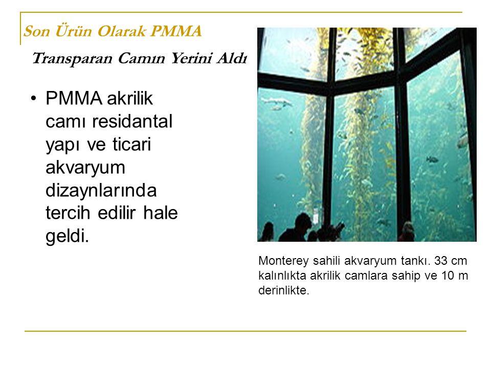 Son Ürün Olarak PMMA Transparan Camın Yerini Aldı PMMA akrilik camı residantal yapı ve ticari akvaryum dizaynlarında tercih edilir hale geldi. Montere