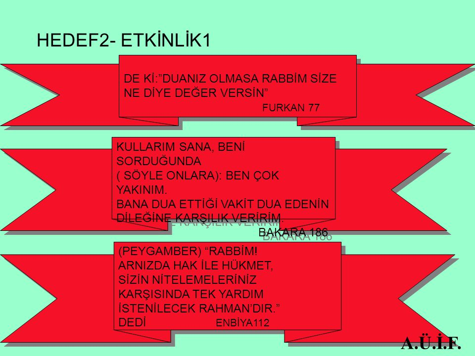 HEDEF5-ETKİNLİK1 A.Ü.İ.F.
