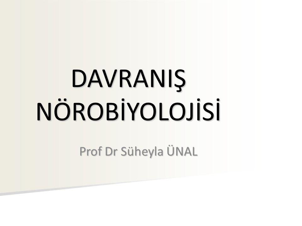 DAVRANIŞ NÖROBİYOLOJİSİ Prof Dr Süheyla ÜNAL
