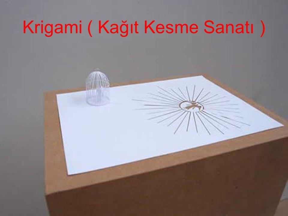 Krigami ( Kağıt Kesme Sanatı )
