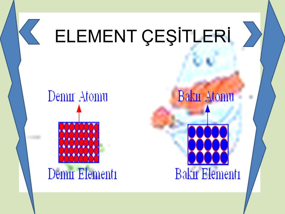 ELEMENT ÇEŞİTLERİ