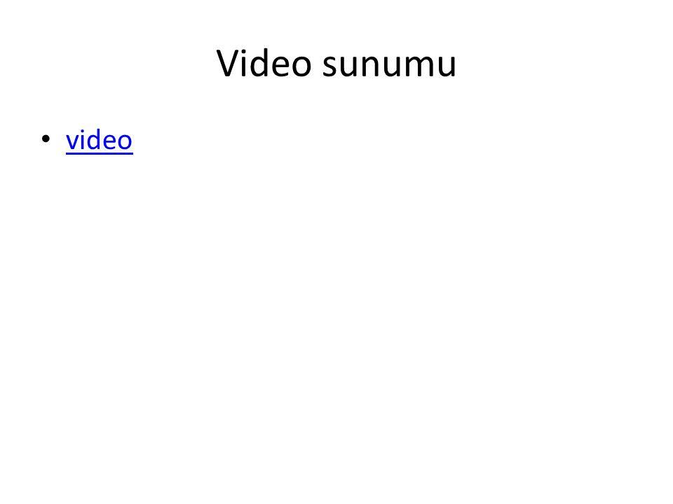 Video sunumu video