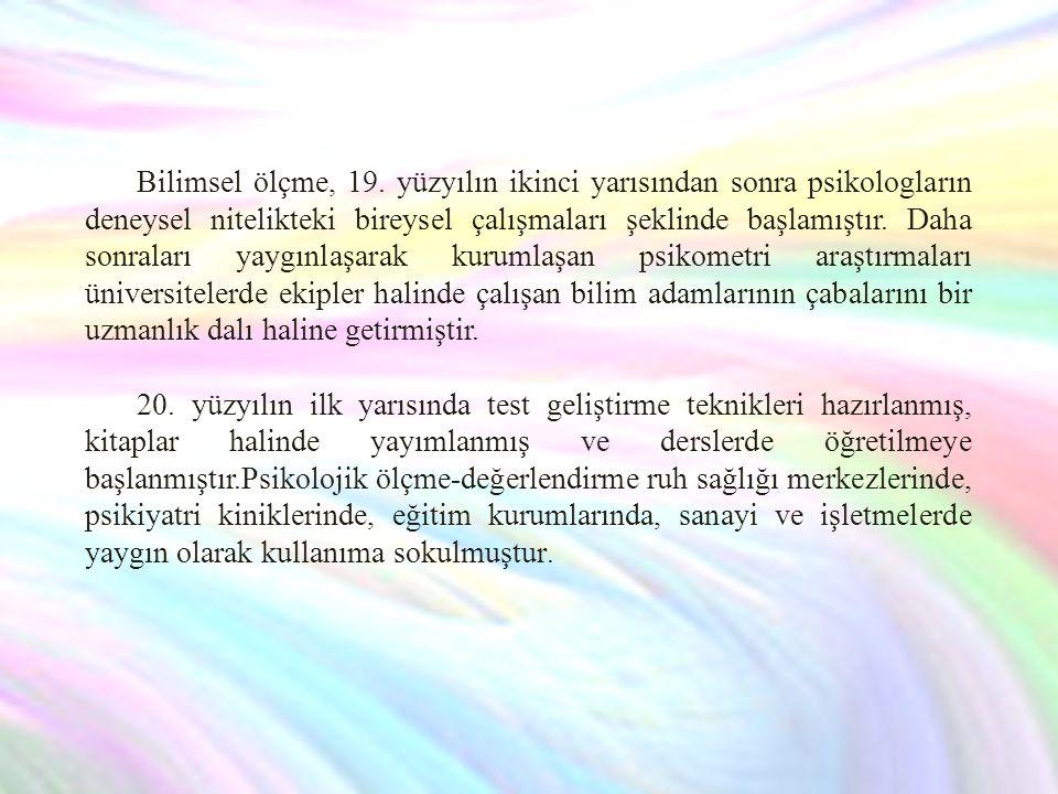 Bilimsel ölçme, 19.