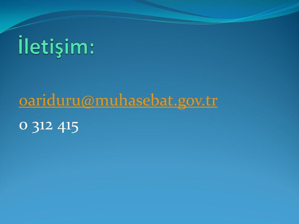 oariduru@muhasebat.gov.tr 0 312 415