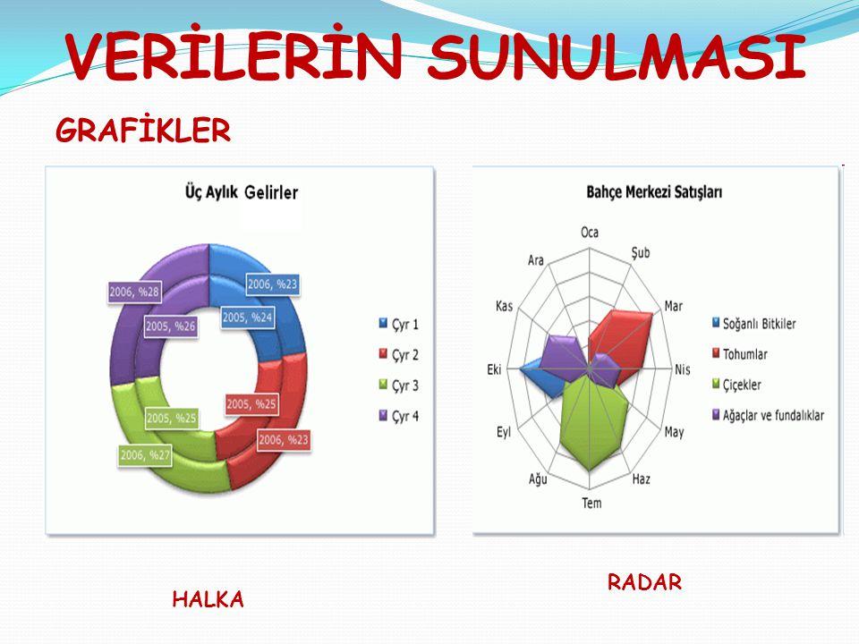 VERİLERİN SUNULMASI GRAFİKLER HALKA RADAR